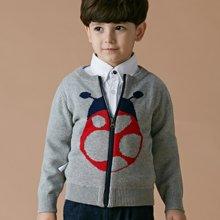 迪斯兔/disitu男童针织外套开衫中大童新款童装儿童拉链毛衣外套潮M1533