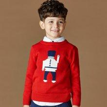 迪斯兔/disitu男童卡通毛衣打底衫中大童纯棉线衫大小儿童针织衫新款潮M0602