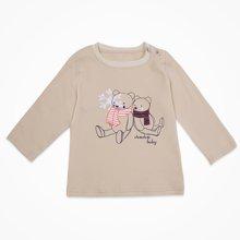 丑丑婴幼 新款男童长袖圆领肩开T慟 春秋时尚针织T恤