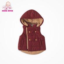 丑丑婴幼马甲男童宝宝外套带帽加厚保暖秋冬装马甲外套