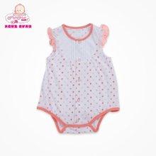 丑丑婴幼夏季新款3个月-1岁女宝宝圆点可爱公主包臀哈衣爬服