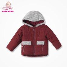 丑丑婴幼冬季新款男宝宝带帽防风保暖棉衣棉服外套