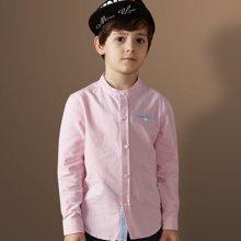 迪斯兔/disitu儿童衬衫男童衬衫长袖纯棉中大童韩版圆领男童衬衣潮C1803