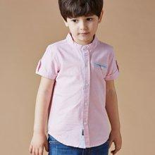 迪斯兔/disitu童装夏季男童衬衫短袖中小童纯棉立领衬衫儿童衬衣新款E1802