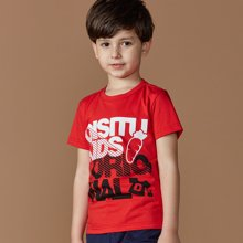 迪斯兔/disitu男童夏季短袖T恤中大童上衣纯棉圆领休闲夏装儿童半袖T恤F2028