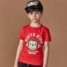 迪斯兔/disitu男童纯棉夏装上衣儿童短袖T恤猴年新款T恤潮F2030