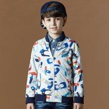 迪斯兔/disitu男童夹克衫外套欧美风中大童秋装上衣儿童茄克潮K3511