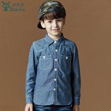 迪斯兔/disitu男童牛仔衬衫长袖童装上衣中大童儿童长袖牛崽衬衣潮C1804