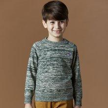 迪斯兔/disitu男童英伦毛衣套头圆领儿童针织衫中大童百搭男童毛衣线衫潮M1502