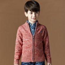 迪斯兔/disitu童装男童毛衣针织衫中大童纯棉开衫儿童外套新款秋装M1508