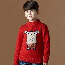迪斯兔/disitu男童装毛衣儿童纯棉针织衫中大童高领套头线衫秋装新款M1506