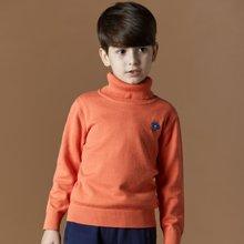 迪斯兔/disitu男童毛衣高领纯棉套头中大童英伦线衫男儿童休闲毛衣针织衫M1501