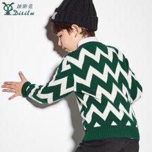 迪斯兔/disitu童装儿童针织衫纯棉中大童圆领套头上衣儿童毛衣休闲M1509