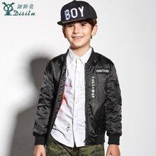 迪斯兔/disitu男童短款夹克衫外套棒球服中大童秋冬童装上衣新款儿童夹克K3512