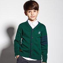 迪斯兔/disitu男童毛衣开衫儿童线衫纯棉中大童针织衫外套M1512