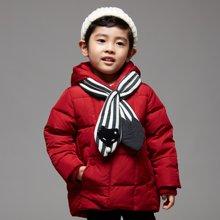 康衣儿宝宝羽绒服男童羽绒服中长款儿童中小童加厚外套幼儿送围巾