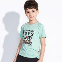 迪斯兔/disitu童装男童卡通T恤短袖纯棉圆领中大童体恤儿童夏装T恤潮F2603