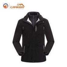 camkids垦牧童装男童保暖两件套夹克防泼水防风冬新款外套