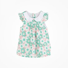丑丑婴幼夏季新款女宝宝翻领可爱上衣女童娃娃衫