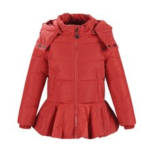 康衣儿女童羽绒服新款中小童宝宝羽绒服女幼童白鸭绒小女生外套