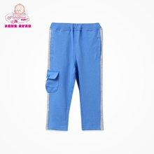 丑丑婴幼春季新款男宝宝1-4岁休闲时尚拼接长裤男童休闲长裤