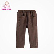 丑丑婴幼男童宝宝秋冬新款针织绒里长裤
