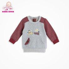 丑丑婴幼男童T恤外套 新款男宝宝春秋纯棉长袖卫衣 6个月-3岁