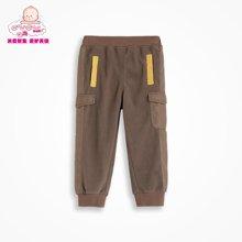 丑丑婴幼2-4岁春款男童加绒长裤新款保暖加绒长裤