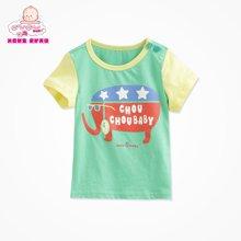 丑丑婴幼 新款夏季男宝宝休闲时尚圆领T恤 1-4岁