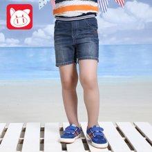 小猪班纳童装2016夏季新品男童纯棉短裤薄款儿童牛仔短裤男中大童