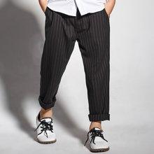 迪斯兔/disitu男童竖条纹休闲裤长裤中大童西裤儿童英伦风休闲长裤秋季新款X1726