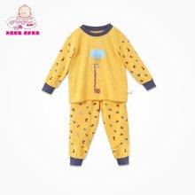 丑丑婴幼1-5岁男童内衣裤春季套装纯棉 男宝宝保暖家居宝宝睡衣