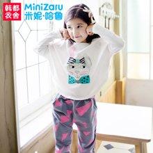 米妮哈鲁童装韩版女童秋装套装2016新款潮两件套儿童长袖套装