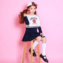 米妮哈鲁童装2017秋装新款女童运动两件套儿童套装YO6194駺