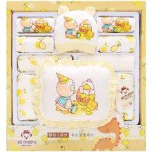 班杰威尔秋冬婴儿衣服新生儿礼盒加厚纯棉刚出生满月宝宝套装