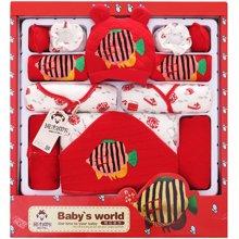 班杰威尔加厚秋冬纯棉婴儿衣服新生儿礼盒刚出生满月宝宝套装