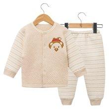 班杰威尔纯棉秋冬加厚保暖新生儿衣服外出服初生婴儿内衣套装