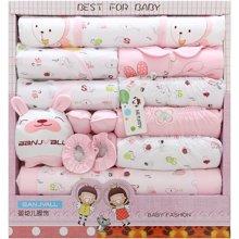 班杰威尔19件套纯棉春夏新生儿礼盒婴儿内衣初生满月宝宝套装母婴用品