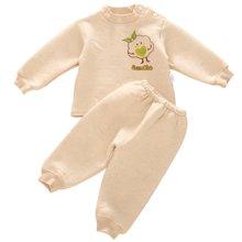班杰威尔纯棉婴儿衣服加厚婴儿彩棉套装满月宝宝套头内衣