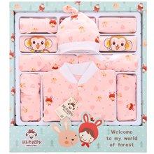 班杰威尔19件套春夏带抱被纯棉新生儿礼盒满月宝宝套装新生儿用品