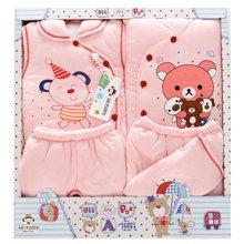 班杰威尔秋冬加厚婴儿礼盒纯棉新生儿内衣5件套送定型枕初生宝宝套装