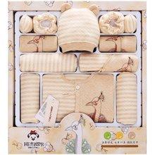 班杰威尔秋冬季加厚彩棉婴儿内衣新生儿礼盒初生满月宝宝套装