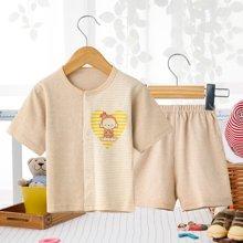 班杰威尔夏季薄款短袖套装纯棉衣服宝宝短袖短裤套装