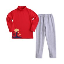 快乐城堡  儿童内衣套装纯棉  绘本风家居打底男童 卡通抗静电童装3-7岁 HB4302