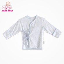 丑丑婴幼春季新款男女宝宝0-1岁中性纯棉绑带上衣家居服内衣