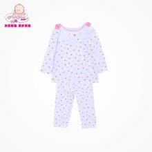 丑丑婴幼春季新款女宝宝6个月-3岁纯棉内衣家居服长袖套装