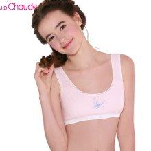 J.D.Chaude 暖暖 学生发育期 少女内衣 纯棉小背心式 薄款无钢圈 运动文胸20820003