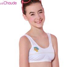J.D.Chaude 暖暖  买一送一学生发育期 少女内衣 纯棉小背心式 薄款无钢圈 运动文胸