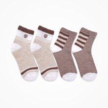 丑丑婴幼 儿童短袜宝宝袜子婴童浅口短袜子2件装1-3岁
