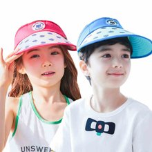 kk树儿童帽子夏男童女童空顶帽2-4-8岁防晒帽遮阳帽小孩太阳帽潮      KQ15295